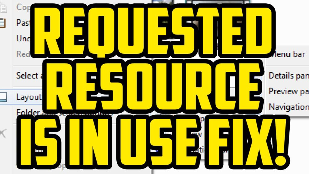 "How to Fix ""The Requested Resource is In Use"" Error Easily"