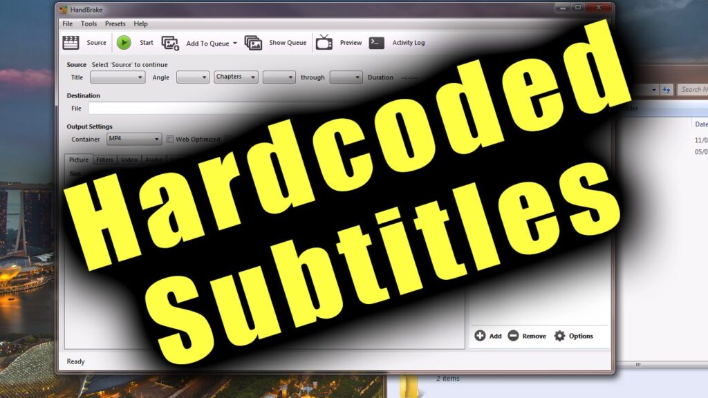 How to release subtitles from MKV